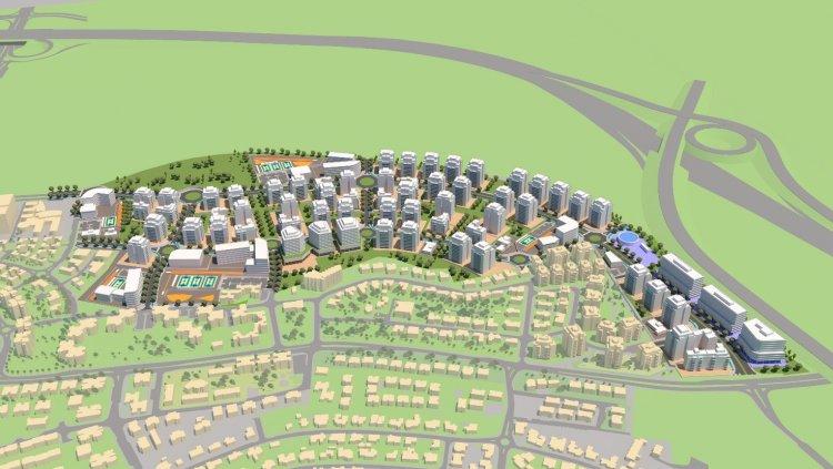 הדמיית תוכנית נס ציונה צפון-מזרח (דביר יחיעם אדריכלים ובוני ערים)